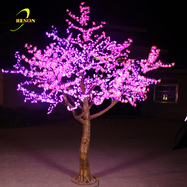 Waterproof Pink Cherry Blossom Led Light Trees With 4050 Leds For Christmas Party Decoration Tree Artificial