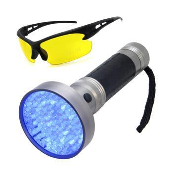 e09a415488 Handheld Ultraviolet Pet Dog and Cat Urine Stain Finder 100 LED Black Light  UV Flashlight