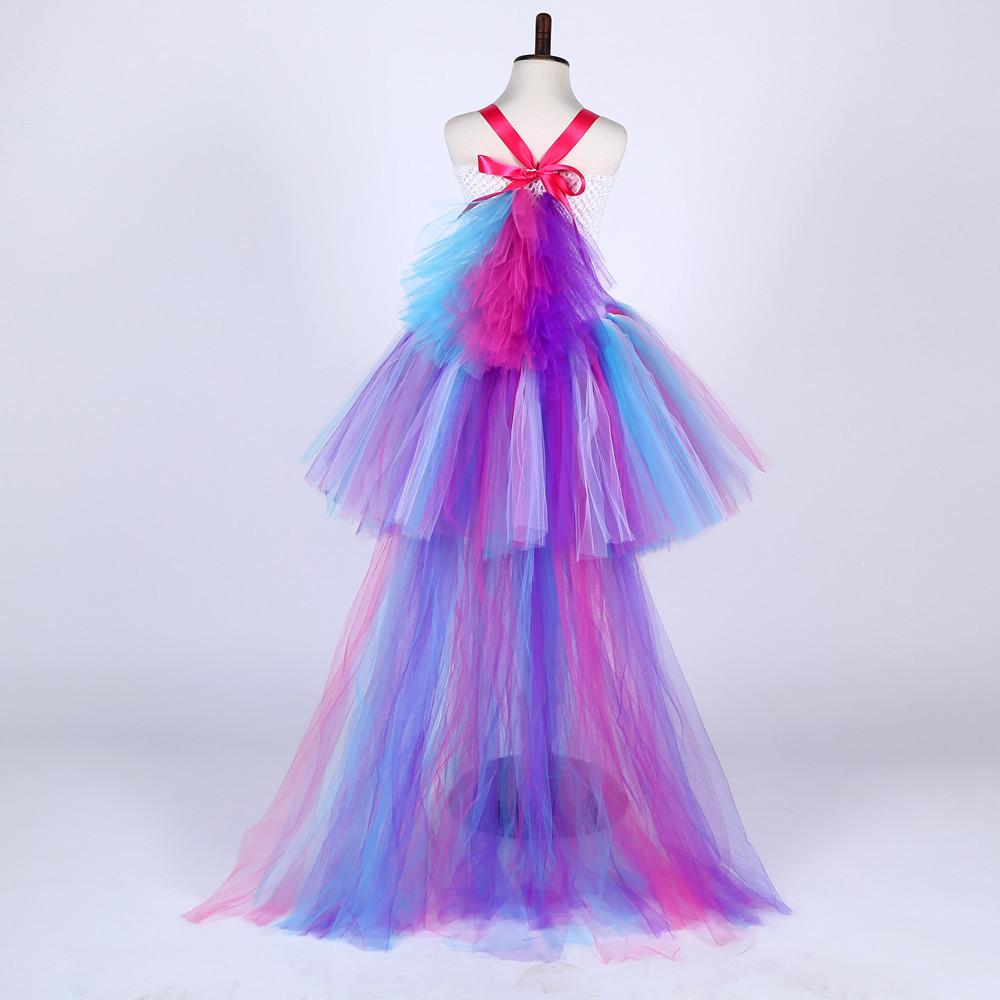 d6d8a3b554926 Train Queue Cosplay Tutu Robe Enfants Arc-En-Ciel Robe de Princesse Enfants  Filles
