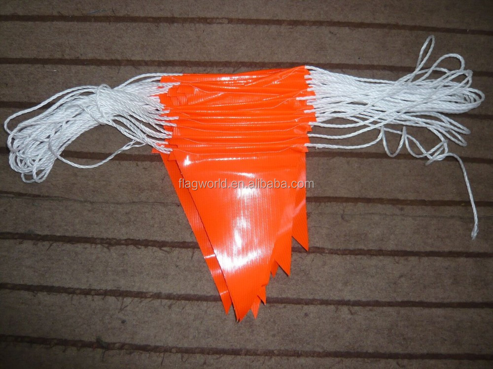 Wholesale plastic or polyester fabric triangle pennant for Triangle wholesale printing