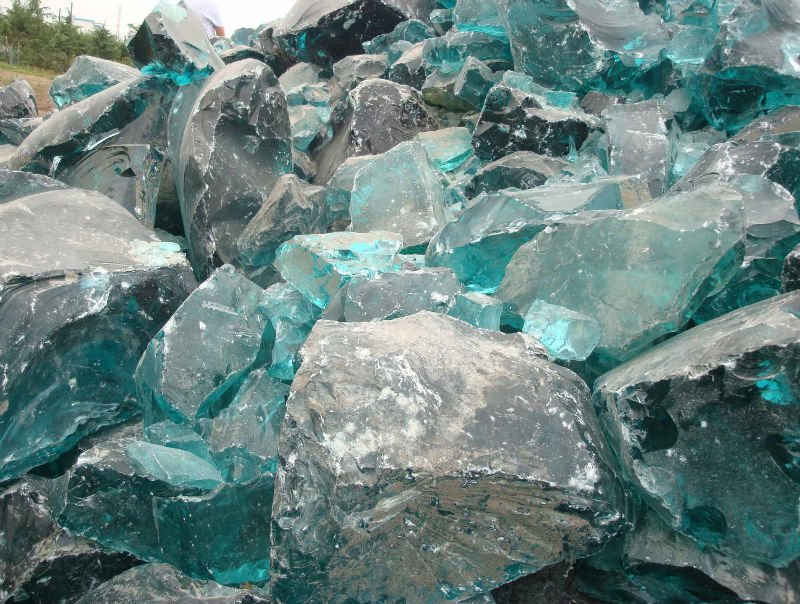 Garden decorative glass rock