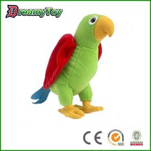 wholesale lovely soft polyeste parrot bird stuffed toys