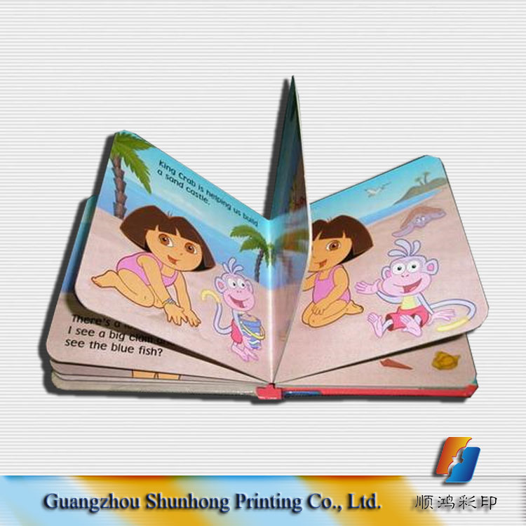 2016 top quality cheap children colourful story hardcover board book printing