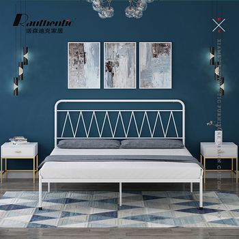Factory Cheap Modern Simple Gold Double Metal Beds
