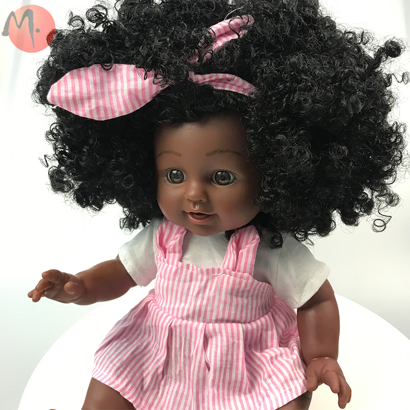 Silicone African American Reborn Baby <strong>Doll</strong> Children Toys