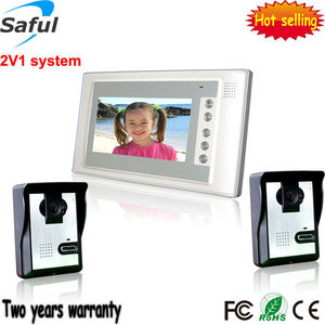 Saful TS-YP803 2V1 (two camera and one monitor) video intercom 7 inch 4 wire