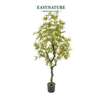 Natural-design real touch plant trees 1.2m artificial plastic maple silk leaf