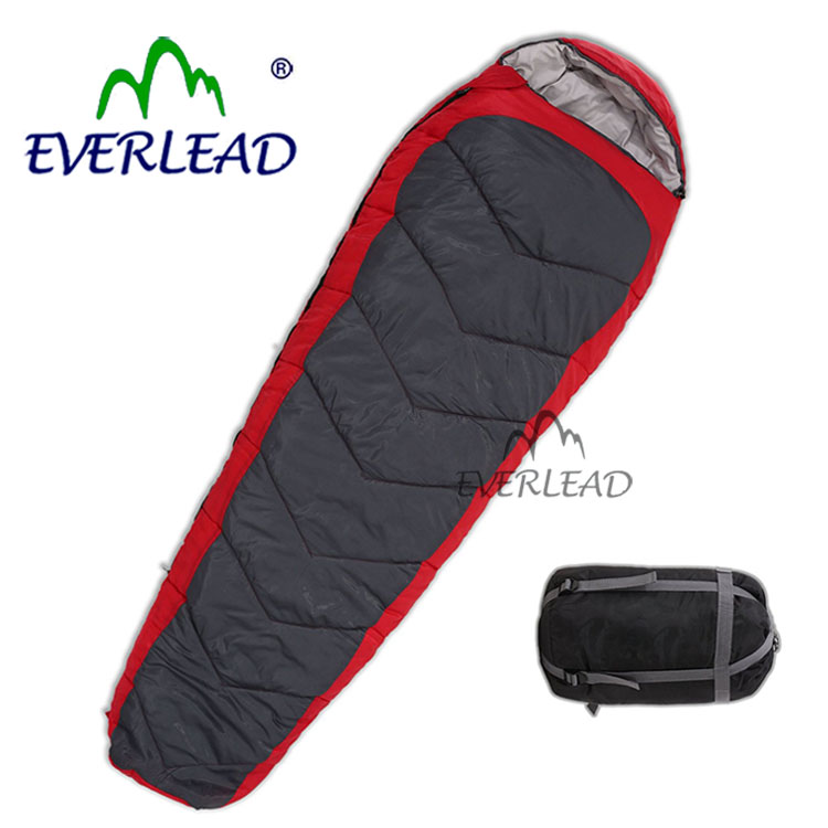 Outdoor Camping Duck Down Flannel Envelope Plush Pad Display Sleeping Bag