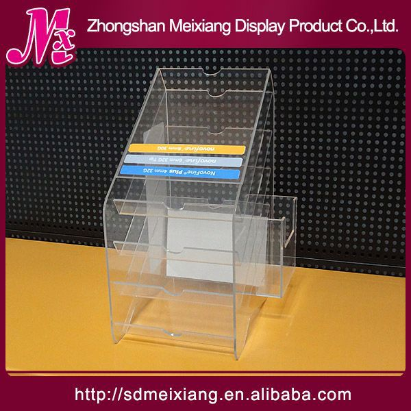 cakes acrylic display shelf MX3169 store retail table top 2 tiers acrylic spice display rack