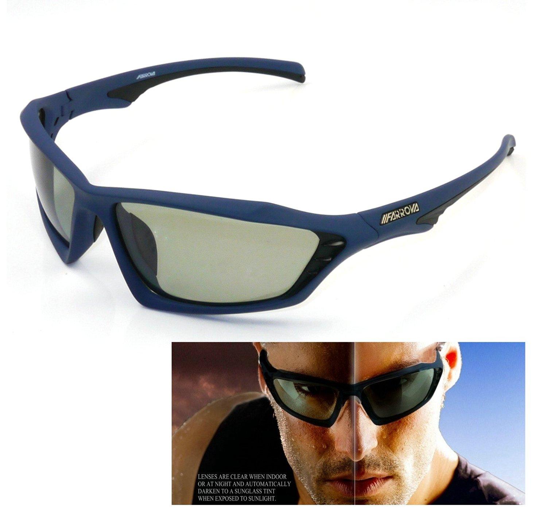 e798d7b257 Get Quotations · FARROVA - KD015 POLARIZED Sports Sunglasses with Smart Photochromic  Lenses (Black Grey Lenses
