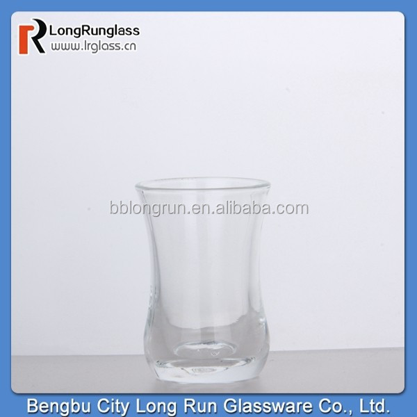 LongRun machine made 65ml transparent turkish tea glass glasses