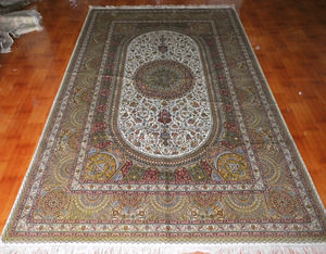 Purity And Spirituality handmade Turkish silk carpet double knots