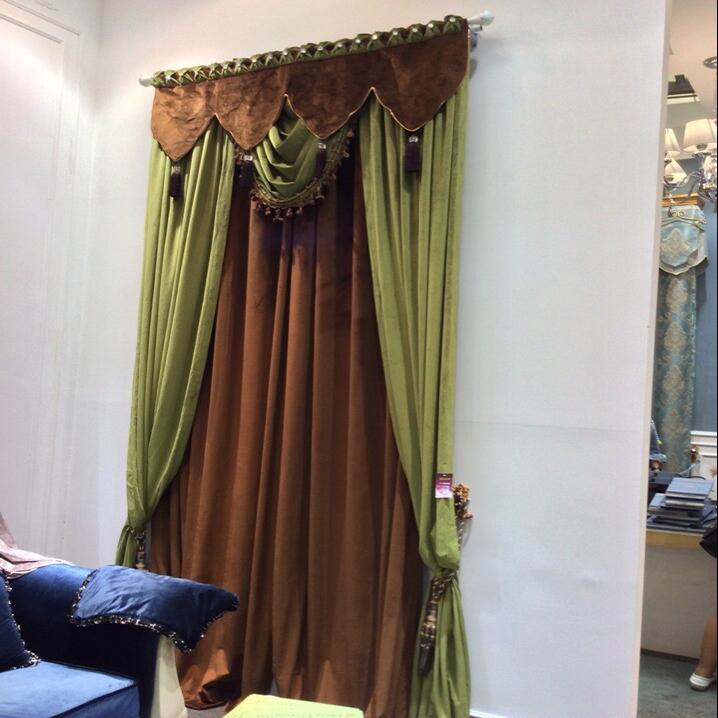 collecte au domicile plaine de velours de couleur rideau et cantonni re pour les rideaux duba. Black Bedroom Furniture Sets. Home Design Ideas