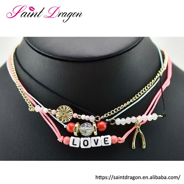 Alibaba wholesale love beads necklace set women accessories