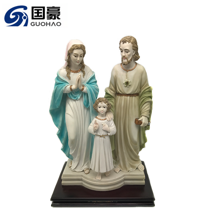 Custom Design Harz Figur mit china krippe großhandel