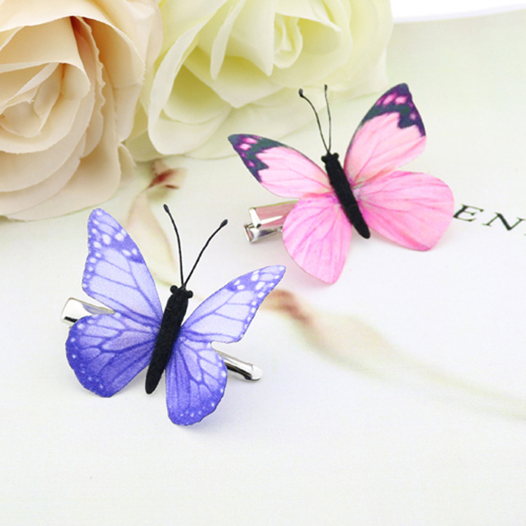 Fee Schmetterling Haarnadel Woodland Party Favor Kid Haarspange Niedlichen Thema Party Mädchen Tier Fliegen Schmetterling Haar Clip