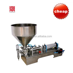 Factory Supply manual volumetric paste filling machine with hopper