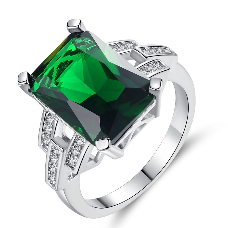 Womens Exaggerated Fashion Style Copper Cheap Emerald <strong>Ring</strong> R115