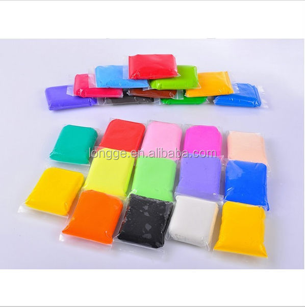 New Arrival Multicolor Soft Polymer Modelling Clay Set For Children Creative Thinking 3D Plasticine With Gift 24 Colors