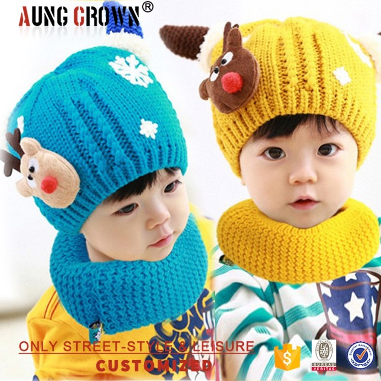 Winter Animal Knitting Hat Knitted Cute Baby Cap