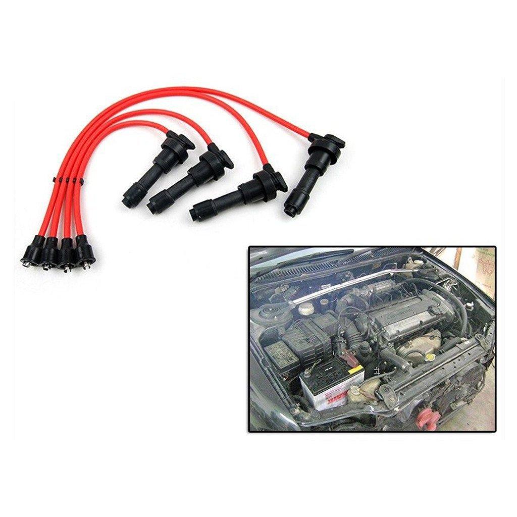 Ignition Spark Plug Wire Cable Set Mitsubishi Lancer CC 4G92 4G93 Dohc 1.8L / 1.6L