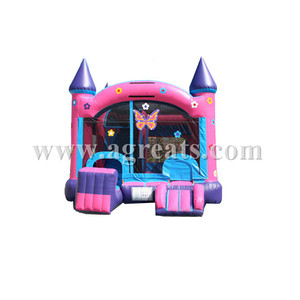 nice design lovely inflatable combo games moon walks house , inflatable bouncer castle toys on sale G3067