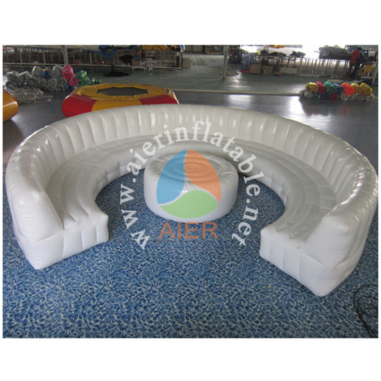 Durable pvc circular white inflatable air lounge chair sofa furniture