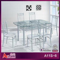cheap dining chairs set of 4/dining table set /glass dining table 6 chairs set