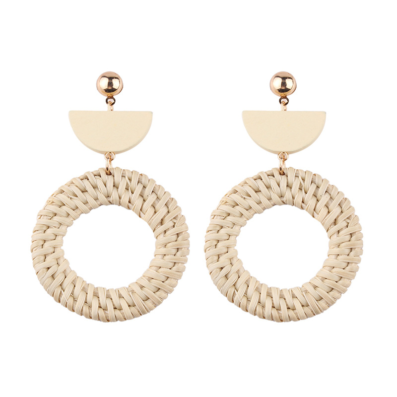 Creative Fashion Bamboo Knit Geometric Earrings earring cuff