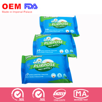 Custom print push clean wet wipes for personal care