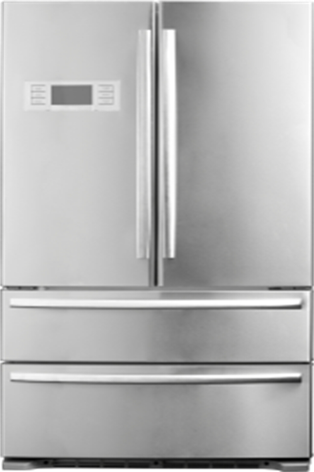 Hc767we No Frost French Door Refrigerator With Ice Maker Dual Cycle