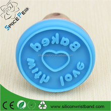 Cartoon wooden seal stamp pattern silicone rubber seal round biscuits biscuits die wood chop cake mold