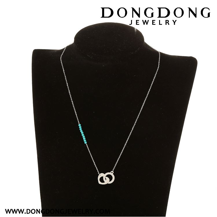 Newest selling simple design directly sale charm pendant white stainless steel necklace