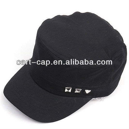 2013 newest fashion military winter hat with diamonds