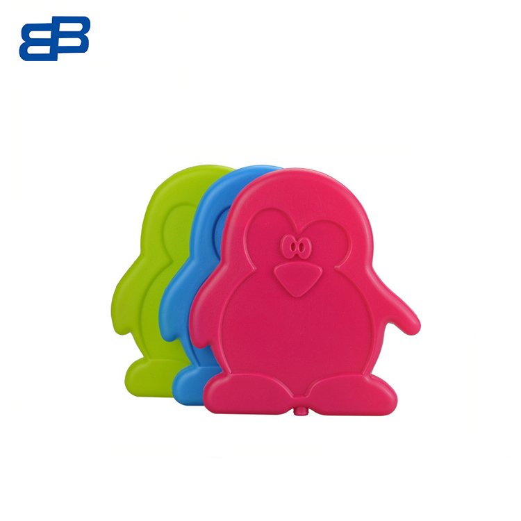 China Leverancier Custom Logo Food Grade Plastic Penguin Vorm Slanke Herbruikbare Cool Cooler Gel Ice Pack voor Lunchbox