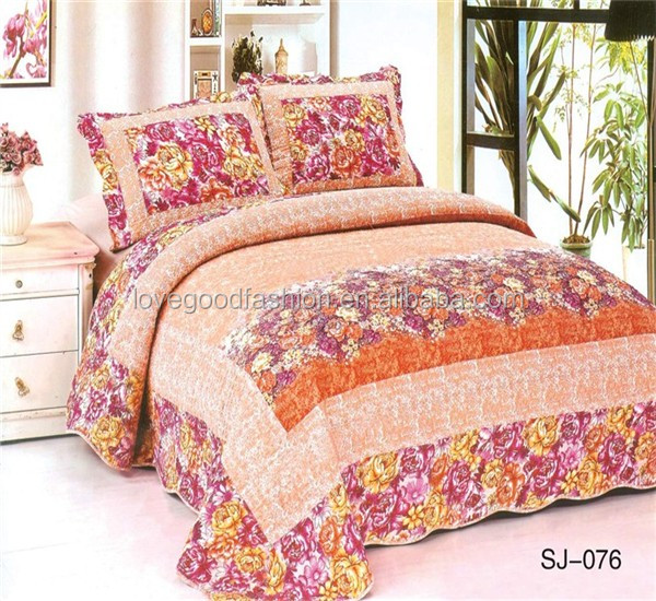 Patchwork Embroidery 100 Cotton Patchwork Quilt Bedspread Manufacturer Hot Sale