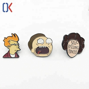 Chain manufacture high quality best price custom lovely cartoon lapel pin badge for business gifts