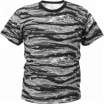 2eb0a8de1f9 Kango Man Camouflage Camo Tactical Military Quick Drying Moisture Wicking T- Shirt cema