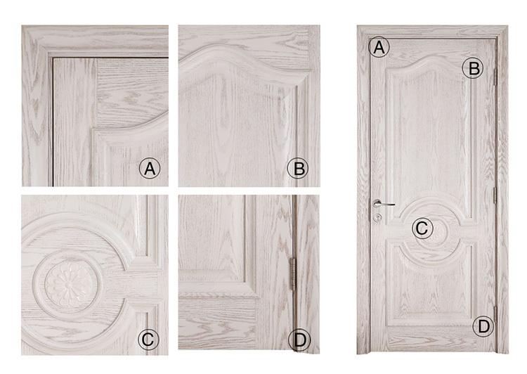 Plain Design Entrance Doors Old Wooden Door Solid Core