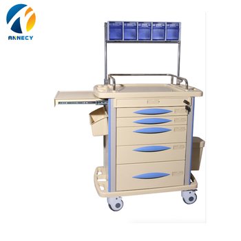 AC-AT032 medical supplies for patient steel plastic carry hospital anesthesia trolley with wheels