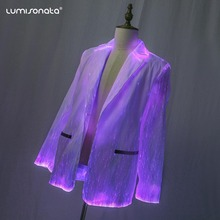 Glow in the Dark Dance Party Wear Licht up <span class=keywords><strong>Pak</strong></span> Kostuum Glasvezel Mens LED Licht <span class=keywords><strong>Pak</strong></span>