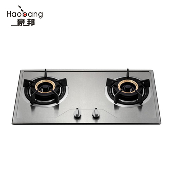 black tempered glass 2 burner gas cooktop