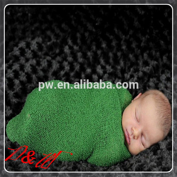 2015 Hot Sale Baby rayon Wrap Newborn Photo Props Baby Stretch Knit Warps Baby Blanket