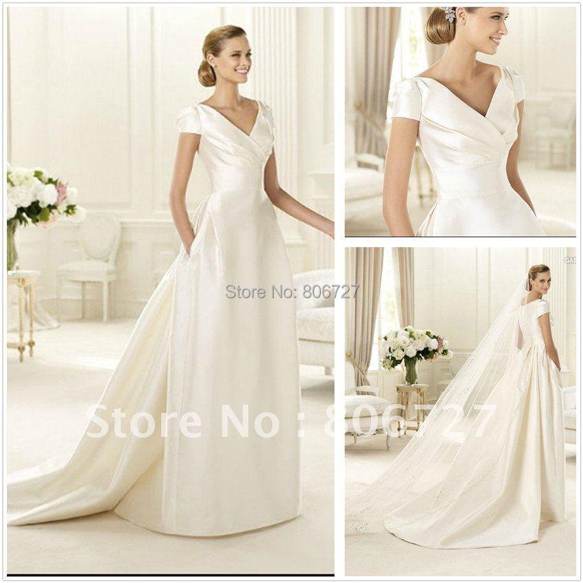 Simple Elegant Wedding Dresses With Sleeves: Aliexpress.com : Buy New Design Simple But Elegant Short