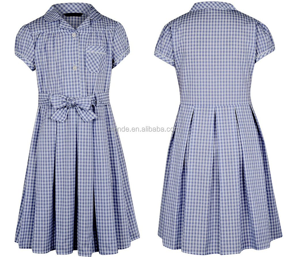 Gingham school dress plus size