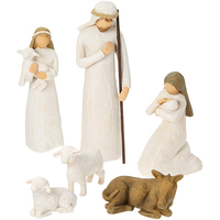 6-piece china factory hand-painted antique nativity sets figures Christian catholic religious statues