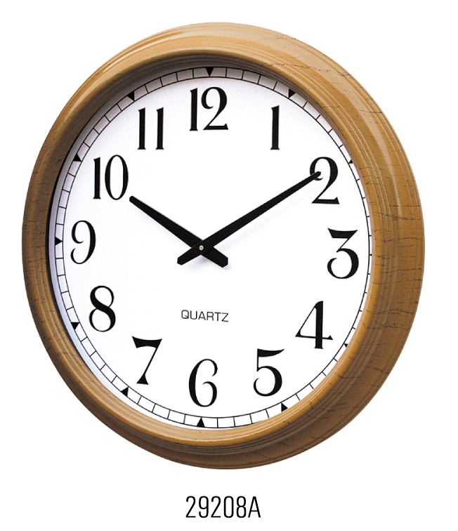 Plastic material quartz analog type Retro Wall Clock