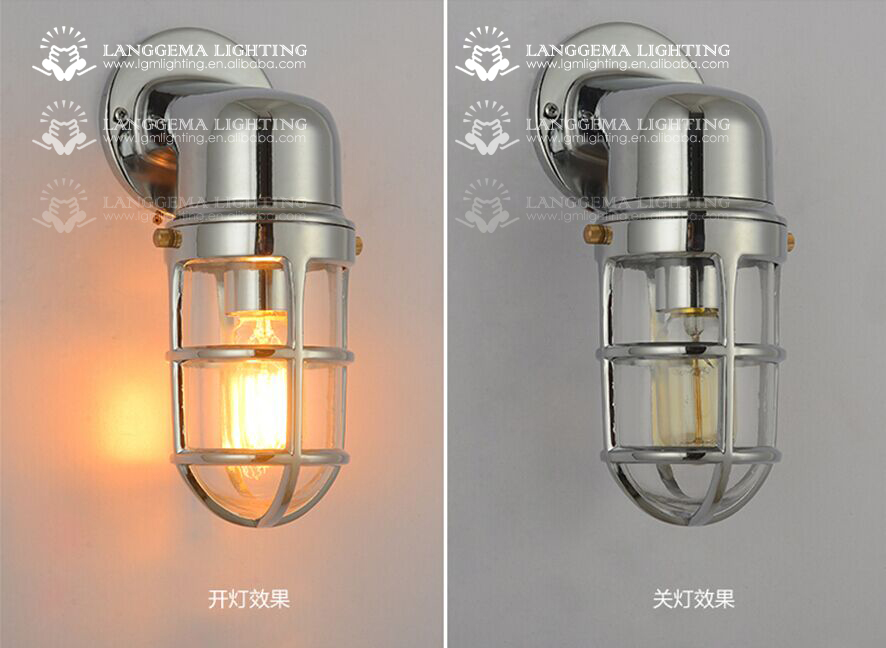 Luminaire industriel vintage en aluminium pendentif avec cage abat