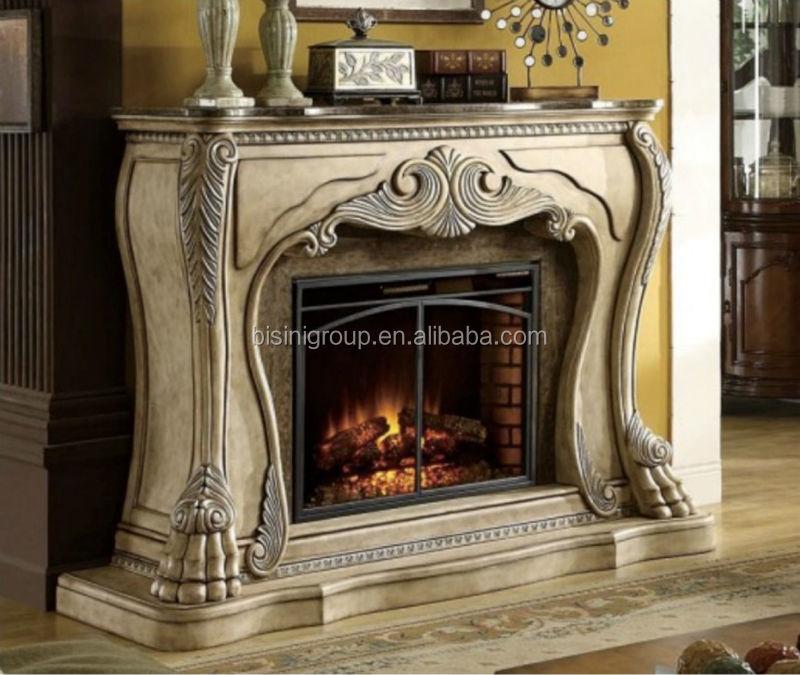 bisini estilo europeo falsa decorativa llama chimenea elctrica