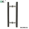 stainless steel push pull H door handle